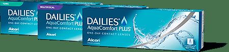 photo of Dailies Aquacomfort boxes