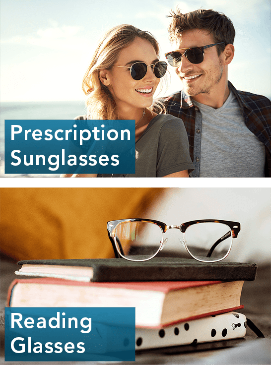 prescription glasses and reading glasses