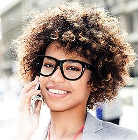 Happy Woman contacting EyeCare Partners
