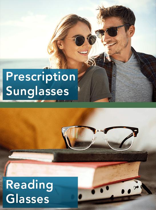prescription glasses and reading glasses