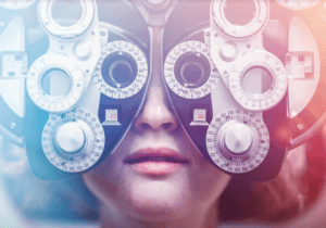 Photo of an eye exam